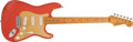 Musical Instruments:Electric Guitars, 1998 Fender '57 Stratocaster American Reissue Fiesta Red ElectricGuitar # V111420...