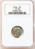 Proof Buffalo Nickels, 1916 5C PR66 NGC....