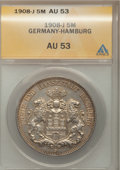 German States:Hamburg, German States: Hamburg. Free City 5 Mark 1908-J,...