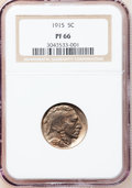Proof Buffalo Nickels, 1915 5C PR66 NGC....
