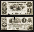 Obsoletes By State:Michigan, Ann Arbor, MI- Government Stock Bank $2 July 1, 1851 UNL Lee 15 Proof. Ann Arbor, MI- Government Stock Bank $5 Sep. 1, 1... (Total: 2 notes)