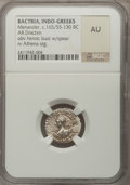 Ancients:Greek, Ancients: INDO-GREEK KINGDOM. Menander (ca. 165/55-130 BC). ARdrachm....