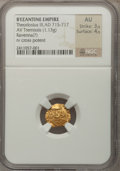 Ancients:Byzantine, Ancients: BYZANTINE EMPIRE. Theodosius III (AD 715-717). AVtremissis (1.13 gm). ...