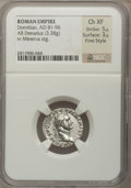 Ancients:Roman Imperial, Ancients: ROMAN EMPIRE. Domitian (AD 81-96). AR denarius (3.38 gm). ...