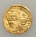 Ancients:Byzantine, Ancients: BYZANTINE EMPIRE. Constans II and Constantine IV (AD641-668). AV solidus (4.50 gm). ...