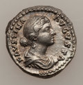 Ancients:Roman Imperial, Ancients: ROMAN EMPIRE. Faustina II, wife of Marcus Aurelius (died AD 175/6). AR denarius (3.16 gm). ...