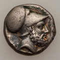 Ancients:Greek, Ancients: LUCANIA, Metapontum. Ca. 340-330 BC. AR stater (7.78 gm)....