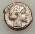 Ancients:Greek, Ancients: SICILY. Leontini. Ca. 440 BC. AR tetradrachm (16.21 gm)....