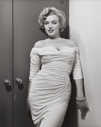 PHILIPPE HALSMAN (American, 1906-1979) Marilyn Monroe, Life Cover Variant, 1952 Gelatin silver, circ