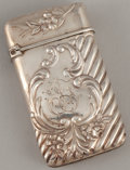 Silver Smalls:Match Safes, A FRENCH SILVER MATCH SAFE . Maker unknown, circa 1900. Marks:CD (in diamond), (2 effaced stamps). 2 inches high (5.1 c...