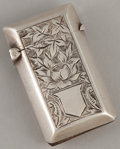 Silver Smalls:Match Safes, A VICTORIAN SILVER MATCH SAFE . Probably Thomas Acott & Co.,Birmingham, England, circa 1895-1896. Marks: (lion passant), (a...