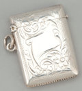 Silver Smalls:Match Safes, AN ENGLISH SILVER MATCH SAFE . Joseph Gloster Ltd, Birmingham,England, circa 1911-1912. Marks: (lion passant), (anchor),...