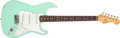 Musical Instruments:Electric Guitars, 1986 Fender Stratocaster Seafoam Green Electric Guitar, #V019234....