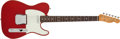 Musical Instruments:Electric Guitars, Circa 2000 Fender '62 Telecaster Custom American Reissue CandyApple Red Electric Guitar # V120583...