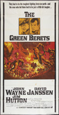 "Movie Posters:War, The Green Berets (Warner Brothers, 1968). Three Sheet (41"" X 81"").War.. ..."