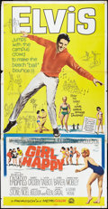 "Movie Posters:Elvis Presley, Girl Happy (MGM, 1965). Three Sheet (41"" X 81""). Elvis Presley....."