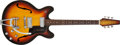 Musical Instruments:Electric Guitars, Circa 1960s Baldwin / Burns Model 706 Sunburst Semi-Hollow BodyElectric Guitar, #0914....