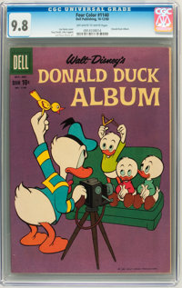 Four Color #1140 Donald Duck Album (Dell, 1960) CGC NM/MT 9.8 Off-white to white pages