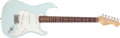 Musical Instruments:Electric Guitars, Circa 2001 Fender Stratocaster American Standard Sonic BlueElectric Guitar, #Z1046723....