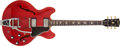 Musical Instruments:Electric Guitars, 1963 Gibson ES-335 Cherry Semi-Hollow Body Electric Guitar,#127895. ...