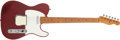 Musical Instruments:Electric Guitars, 1953 Fender Telecaster Refinished Red Solid Body Electric Guitar,#7278. ...