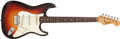 Musical Instruments:Electric Guitars, 1965 Fender Stratocaster Sunburst Electric Guitar, #L54147....