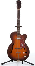 Music Memorabilia:Instruments , 1950s Kay Tobacco Sunburst Archtop Electric Guitar No SerialNumber....