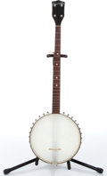 Music Memorabilia:Instruments , 1950s Strad-O-Lin 5-String Banjo No Serial Number....