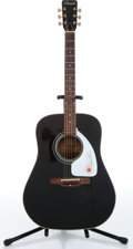 Music Memorabilia:Instruments , 1970s Conrad Dreadnought Black Acoustic Guitar, Serial # 103584...