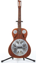 Music Memorabilia:Instruments , 1930s No Name Resonator Guitar No Serial Number....