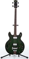 Music Memorabilia:Instruments , 1971 Univox Semi-Hollow Body Green Burst Electric Bass GuitarSerial # 0090570. ...