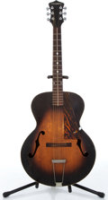 Music Memorabilia:Instruments , 1930s Cromwell Sunburst Archtop Acoustic Guitar No Serial Number....