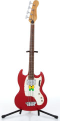 Music Memorabilia:Instruments , 1960s Gibson USA Candy Apple Red Electric Bass Guitar Serial #892522....