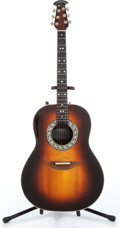 Music Memorabilia:Instruments , 1980s Ovation Model 1612 Tobacco Sunburst Acoustic Guitar Serial#210479...