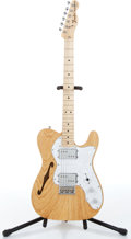 Music Memorabilia:Instruments , 2000s Fender Telecaster Thinline Natural Electric Guitar Serial # MN8120467...