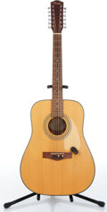 Music Memorabilia:Instruments , 1990s Fender DG-10/1212-String Natural Acoustic Guitar Serial #00064570. ...