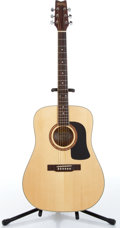 Music Memorabilia:Instruments , 1990s Washburn D-10S Natural Acoustic Guitar Serial #SI40606850....