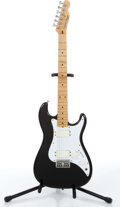 Music Memorabilia:Instruments , 1980s Fender Squire Bullet Black Electric Guitar Serial #SQ17591...