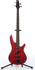 Music Memorabilia:Instruments , 1990s Ibanez Soundgear SR400 Candy Apple Red Electric BassGuitar...