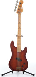 Music Memorabilia:Instruments , 1970s Hondo II Cinnamon Burst Precision Electric Bass Guitar CopyPartial Serial # HD850....