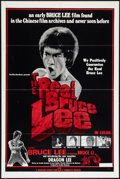 "Movie Posters:Action, The Real Bruce Lee (Cinematic, 1979). One Sheet (27"" X 41"") andPhotos (4) (8"" X 10"" Affixed to 11"" X 14"" Boards). Action.. ...(Total: 5 Items)"