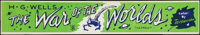 """The War of the Worlds (Paramount, 1953). Concession Stand DayGlo Mini Banner (4.75"""" X 28""""). Science Fiction..."""