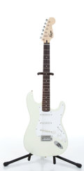Musical Instruments:Electric Guitars, 1995 Squier By Fender Stratocaster Olympic White Electric GuitarSerial# VN535459....