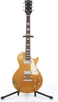Musical Instruments:Electric Guitars, 1977 Gibson Les Paul Deluxe Gold Top Electric Guitar Serial#06112812....
