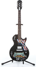 Musical Instruments:Electric Guitars, 1996 Epiphone Alabama Limited Edition Farewell Tour Black ElectricGuitar Autographed By Alabama Serial# SJ800-1996....