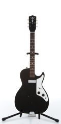 Musical Instruments:Electric Guitars, 1970's Harmony - Silvertone Black Electric Guitar Serial# N/A....