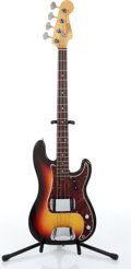 Musical Instruments:Electric Guitars, Fender Precision Reissue of 1966 Sunburst Electric Bass GuitarSerial# 150736....