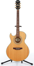Musical Instruments:Acoustic Guitars, 2001 Epiphone PR5E L/H Natural Electric Acoustic Guitar Serial#Z01092043....