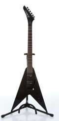 Musical Instruments:Electric Guitars, 1992 B.C. Rich JR-V Black Electric Guitar Serial# F2031289....