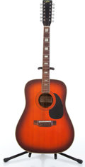 Musical Instruments:Acoustic Guitars, 1983 Aria 6815 Orange Sunburst 12-String Acoustic Guitar Serial#375804....